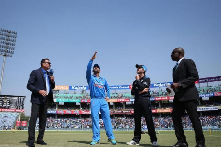 India captain MS Dhoni won the toss and opted to field against New Zealand. (BCCI Photo)