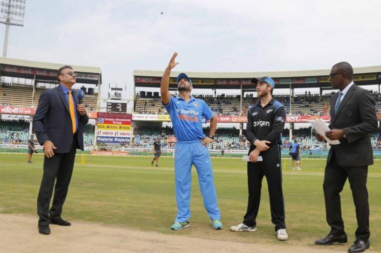 India captain Mahendra Singh Dhoni opted to bat against New Zealand. (BCCI Photo)