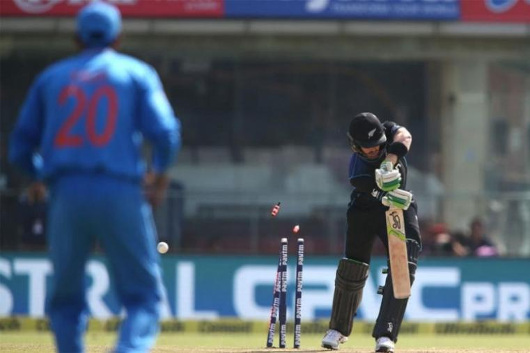 Martin Guptill was bowled for a duck by Umesh Yadav. (BCCI Photo)
