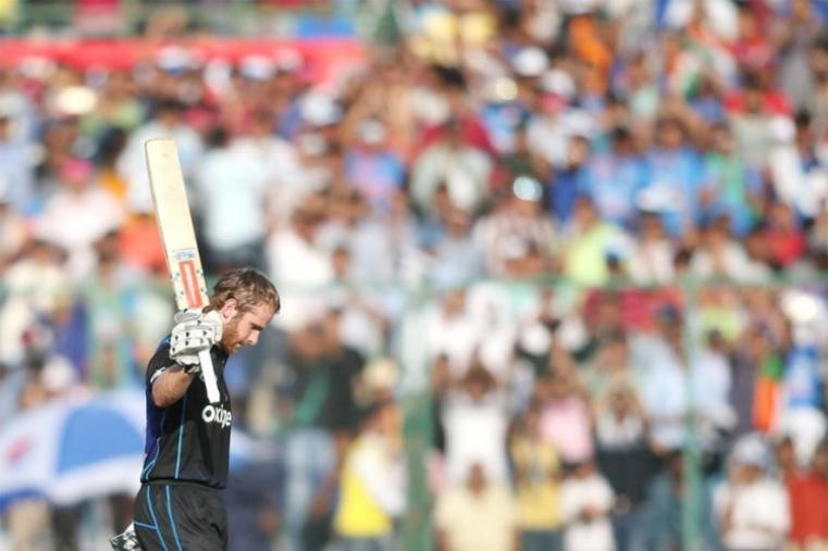 New Zealand captain Kane Williamson notched up his eighth one-day international century. Williamson scored 118 off 128 balls before being dismissed by Amit Mishra. (BCCI Photo)