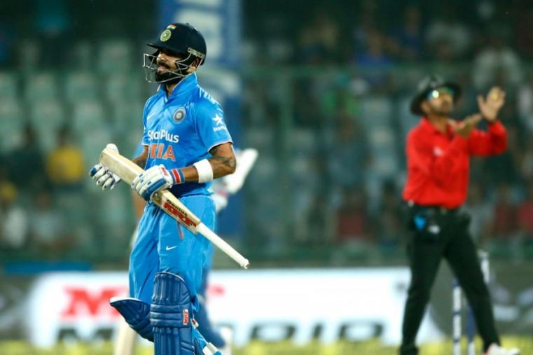 Virat Kohli was dismissed by Mitchell Santner for just nine runs. (AP)