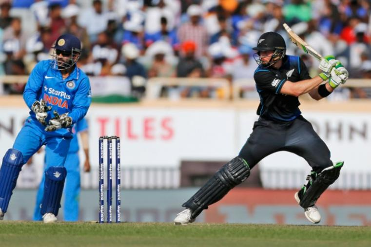 Martin Guptill was the top scorer for New Zealand with 72 runs off 84 balls. (AP)