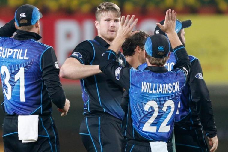 NZ bowlers kept taking wickets at regular intervals as the visitors won the match by 19 runs to level the five-match series 2-2. (AP)