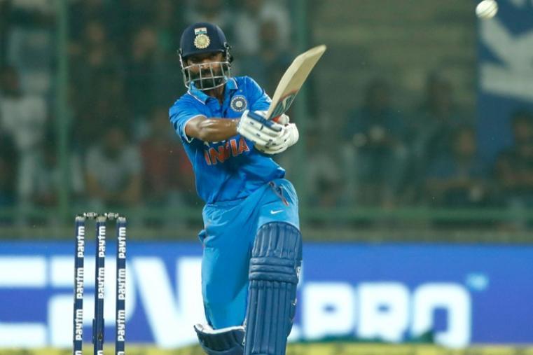 Ajinkya Rahane made 28 runs off 49 balls before falling to Tim Southee. (AP)