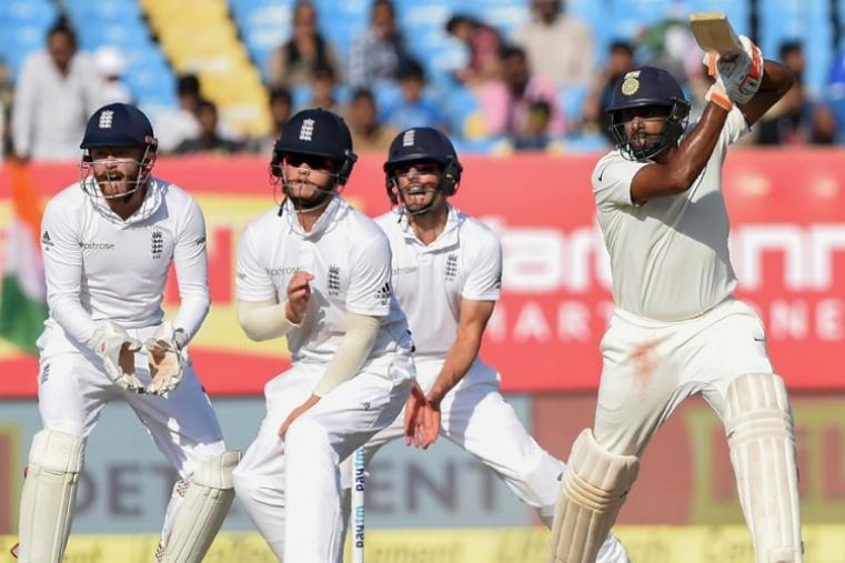 England had India in early trouble at 71-4 but Virat Kohli steadied the ship with a 47-run partnership that he shared with Ravichandran Ashwin (32). (Image credit: AFP)
