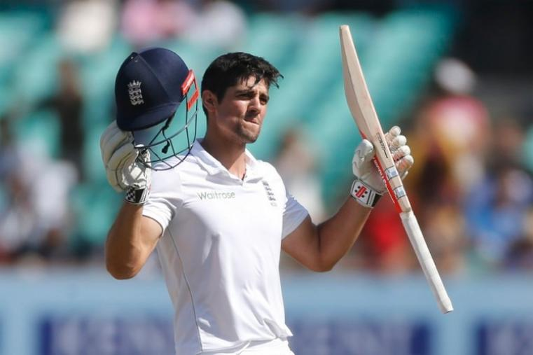 England captain Alastair Cook notched up his 30th Test hundred and declared his team's second innings on 260 for three in the second session, to set India an improbable target of 310. (Image credit: AFP)