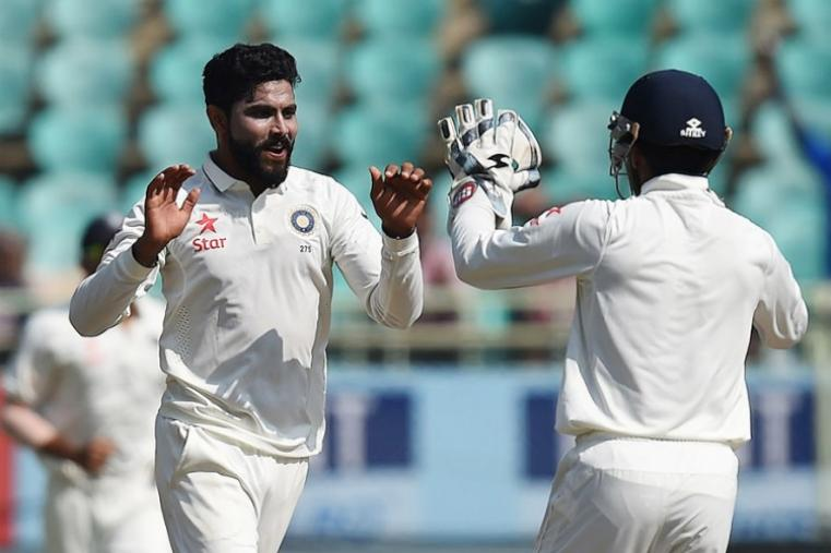 Ravindra Jadeja celebrates after dismissing Moeen Ali (2). (AFP Photo)