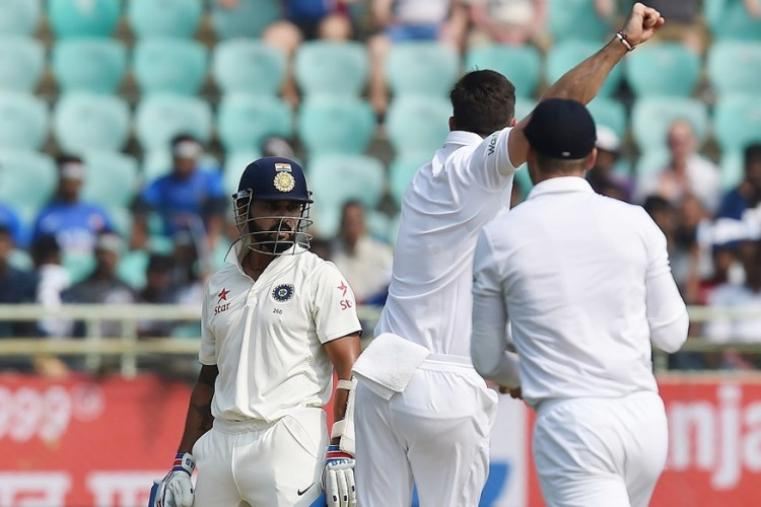 Stuart Broad got Lokesh Rahul for nought in the second over, while fit-again paceman James Anderson accounted for Murali Vijay (20). (Image credit: Reuters)
