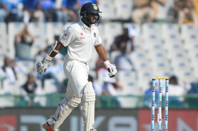 The diminutive 31-year-old Parhtiv Patel, replacing injured regular wicketkeeper Wriddhiman Saha, smacked six boundaries in his 42 before Adil Rashid dismissed him leg-before. (AFP Photo)
