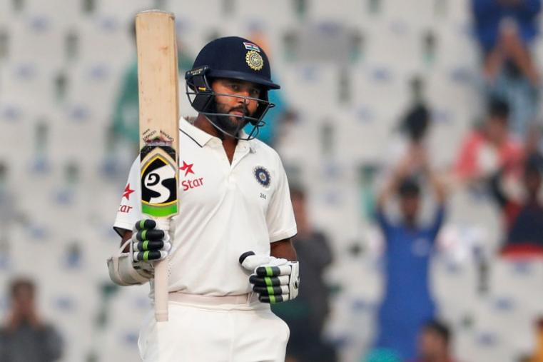 Chasing 103 runs for victory, India cantered home in the final session on day four after opener Parthiv Patel (67 not out) hit the winning runs. India now lead the five-match series 2-0 with the fourth Test in Mumbai starting on December 8. (AP Photo)