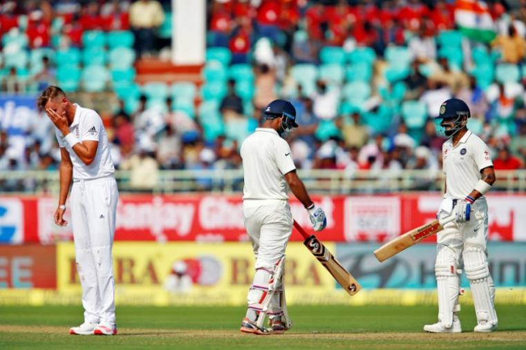 Cheteshwar Pujara (119) was involved in a 226-run stand with his captain Virat Kohli for the third wicket. (Image credit: Reuters)