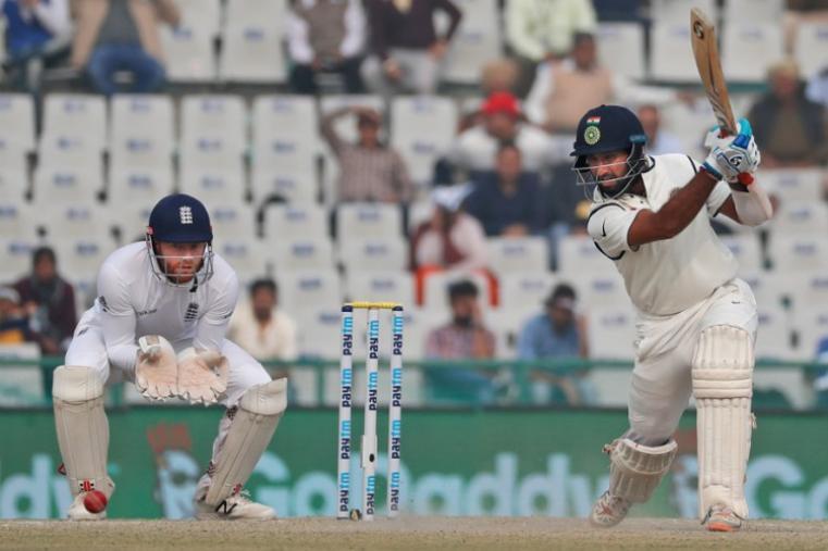 Cheteshwar Pujara scored 25 runs before being dismissed by Adil Rashid. (AP Photo)