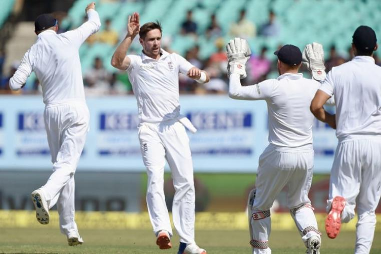 India's second innings began on a shaky note, with opener Gautam Gambhir falling to paceman Chris Woakes for a duck. (Image credit: AFP)