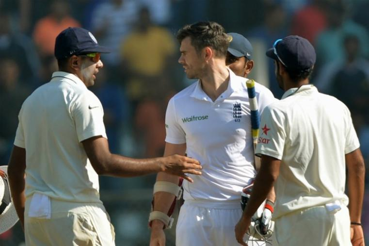 R Ashwin and James Anderson have a chat after India cruised to a massive win. (AFP Photo)