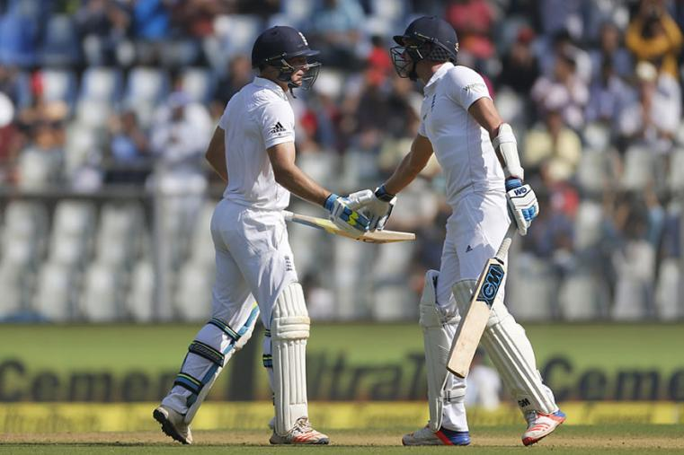 Jos Buttler and Jake Ball added crucial runs for the ninth wicket during the fourth Test between India and England in Mumbai. (AFP Images)