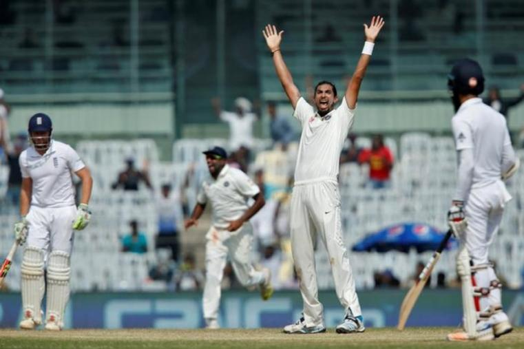 Ishant Sharma celebrates after removing Jonny Bairstow for just 1. (Image credit: Reuters)