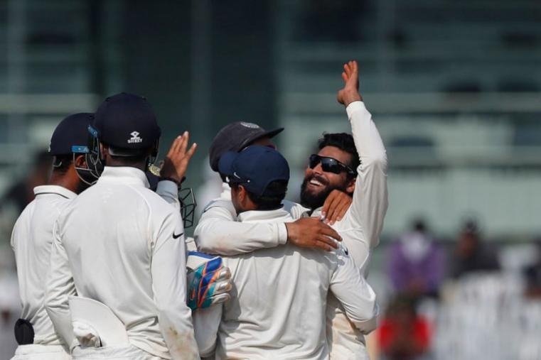 Ravindra Jadeja was the pick of the Indian bowlers, claiming a career-best 7/48. (Image credit: Reuters)
