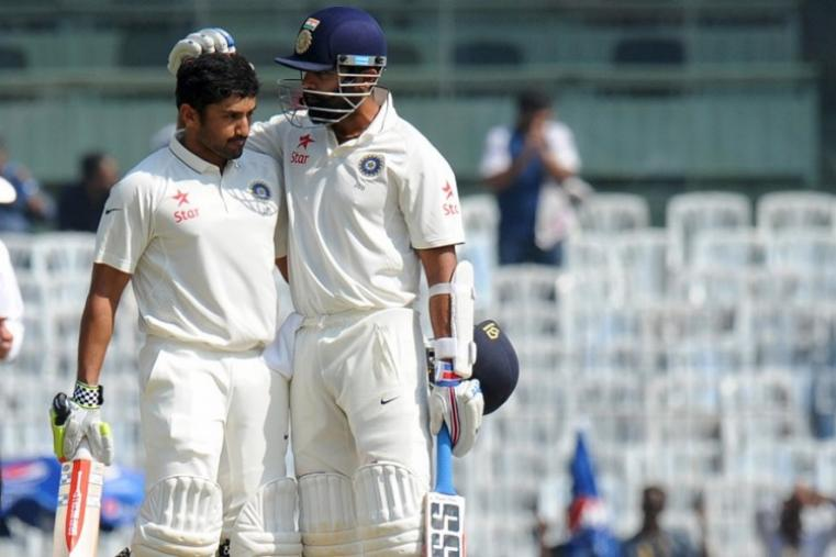 Karun Nair has now become only the second Indian batsman to score a triple ton after swashbuckling opener Virender Sehwag, who has two triple tons to his name. (AFP Photo)