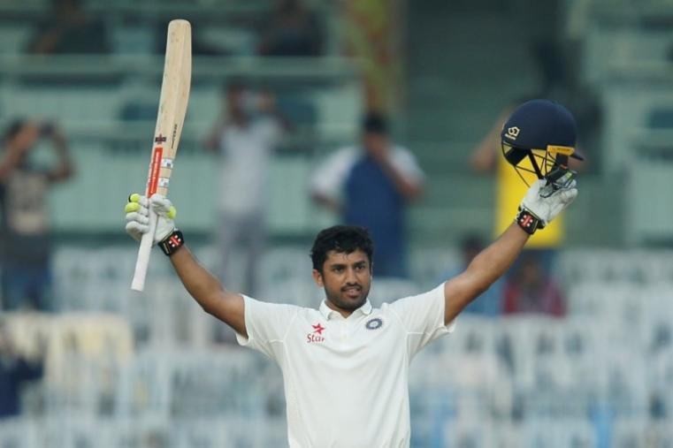 Karun Nair scored a triple century as India declared their first innings at 759 for seven, a lead of 282 runs, on day four of the fifth and final Test against England. This is India's highest score against any opponent surpassing the previous best of 726/9 declared against Sri Lanka in 2009. (AFP Photo)