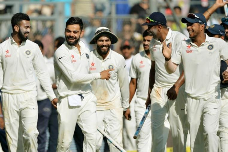 India thrashed England by an innings and 36 runs in the fourth Test to claim an unassailable 3-0 lead in the five-match series. (AFP Photo)