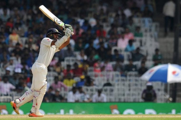 Parthiv Patel made a career-best 71 before falling to Moeen Ali. (AFP Photo)