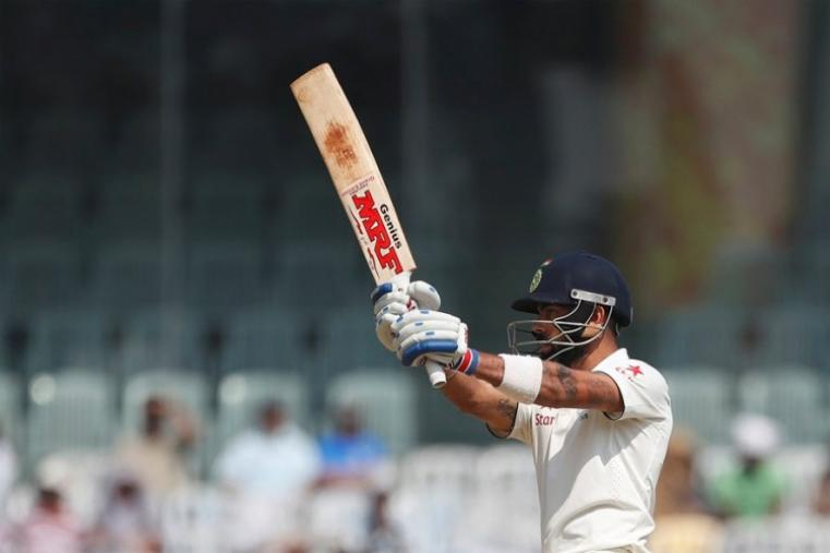 Virat Kohli made 15 and it was the first time in the series that the Indian run-machine was dismissed for a sub-40 score. (AFP Photo)