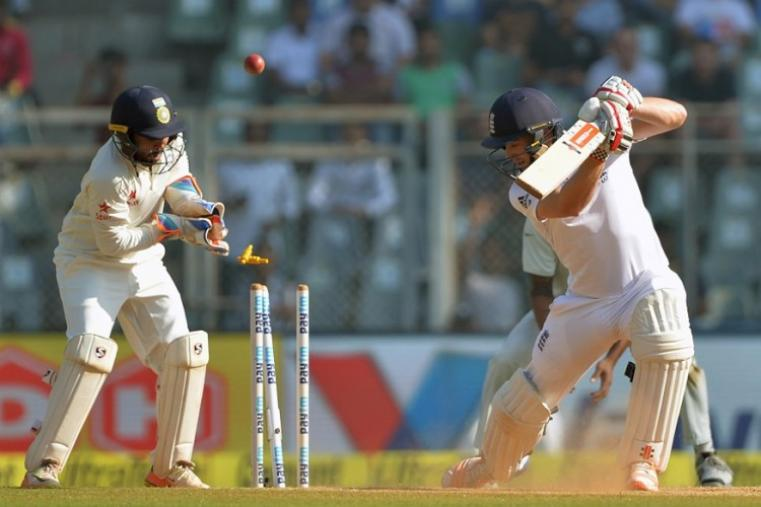 Chris Woakes was dismissed by R Ashwin for a duck. (AFP Photo)