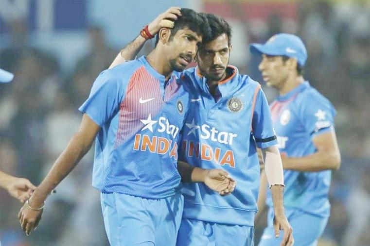 India produced an inspired bowling display to deny England their first limited-overs series in the country since 1984, winning the second Twenty-20 International (T20I) by five runs. Young pacer Jasprit Bumrah bowled an inspired last over, conceding only two runs, to deny England a victory. He finished the match with figures of 20/2 in his four overs, giving away only three runs in the 18th over. (BCCI Photo)