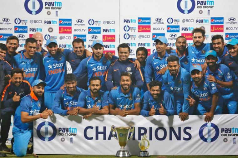 Kedar Jadhav and Hardik Pandya's heroic batting efforts went in vein as England produced a disciplined performance riding on an all-round show by Ben Stokes to defeat India by five runs in a nerve-wracking third One Day International cricket match at the Eden Gardens. However, with India having already taken an unassailable 2-0 lead after the first two games, it was only a consolation win for the visitors before a full house at the iconic Eden Gardens, where the track's bounce and movement afforded good assistance to the English seamers. (BCCI Photo)