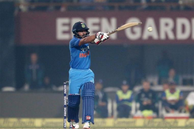England seemed set for a comprehensive win despite an injury to seamer David Willey as India lost their top five batsmen for 173 but Kedar Jadhav (90) and Hardik Pandya (56) brought the hosts back in the match with a sixth-wicket stand of 104. (BCCI Photo)