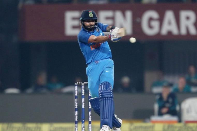 India lost their openers early in the chase but Virat Kohli (55) and Yuvraj Singh (45) put on 65 runs for the third wicket to rebuild the innings. (BCCI Photo)
