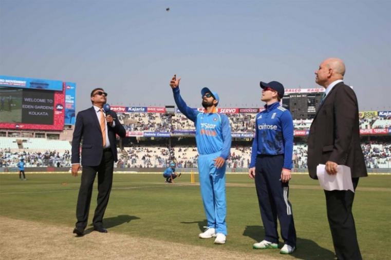 India captain Virat Kohli opted to field against Eoin Morgan-led England at the Eden Gardens in Kolkata. (BCCI Photo)
