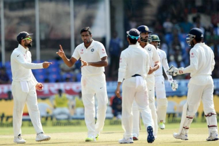 India's bowlers led by spinner Ravichandran Ashwin tightened the noose on Bangladesh, who face an uphill battle for survival on a final-day track in the one-off Test in Hyderabad. (BCCI Photo)