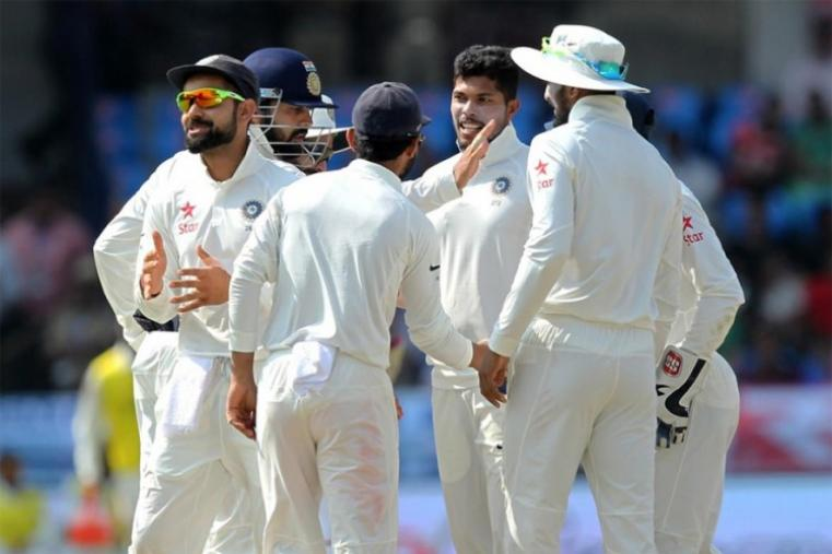 For India, Yadav scalped three wickets while Ashwin and Jadeja took two wickets each. (BCCI Photo)