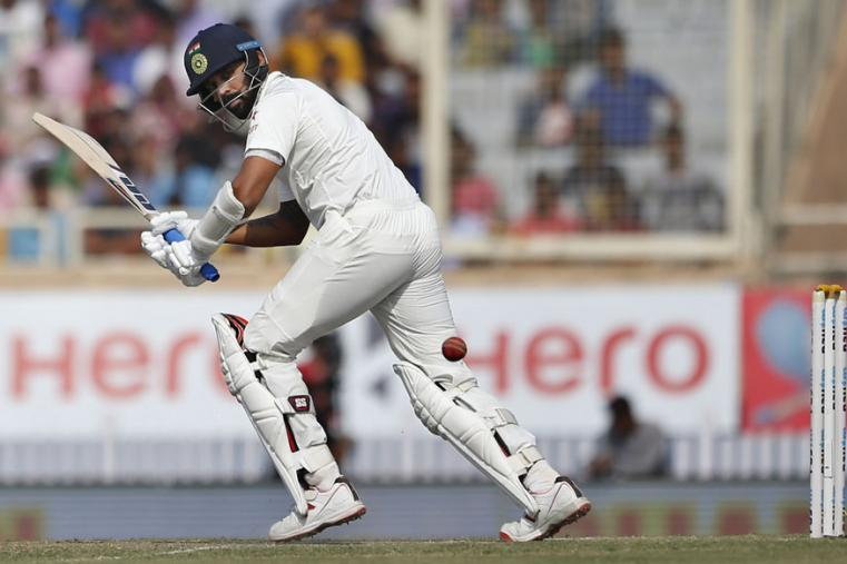 India's Murali Vijay plays a shot during the second day of the Ranchi Test. (AP Photo)