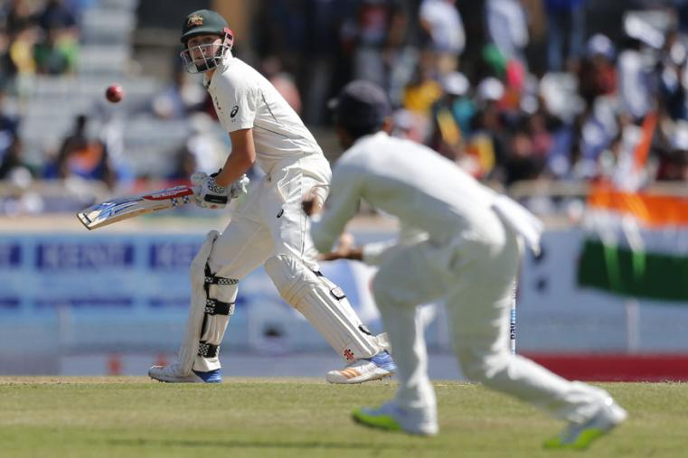 Australia's Matt Renshaw, left, plays a shot during the first day of the Ranchi Test. (AP Photo)