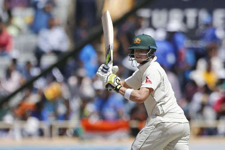 Australia's captain Steven Smith plays a shot during the first day of the Ranchi Test. (AP Photo)