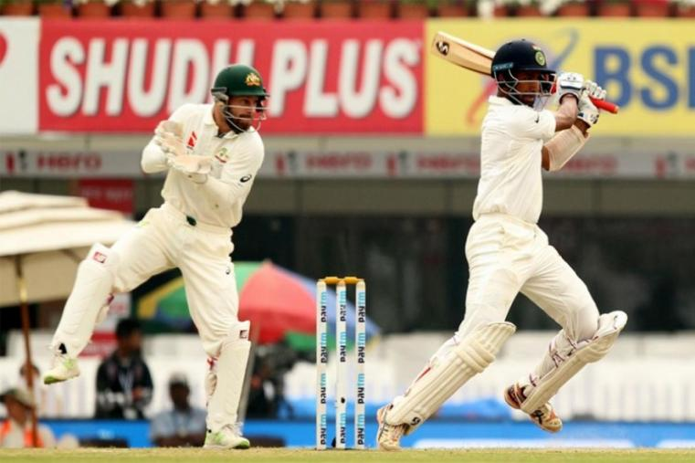 Cheteshwar Pujara became the first Indian batsman to face 500 deliveries in a Test innings, spending more than 11 hours at the crease for his marathon 202 on the penultimate day of the contest. (BCCI Photo)