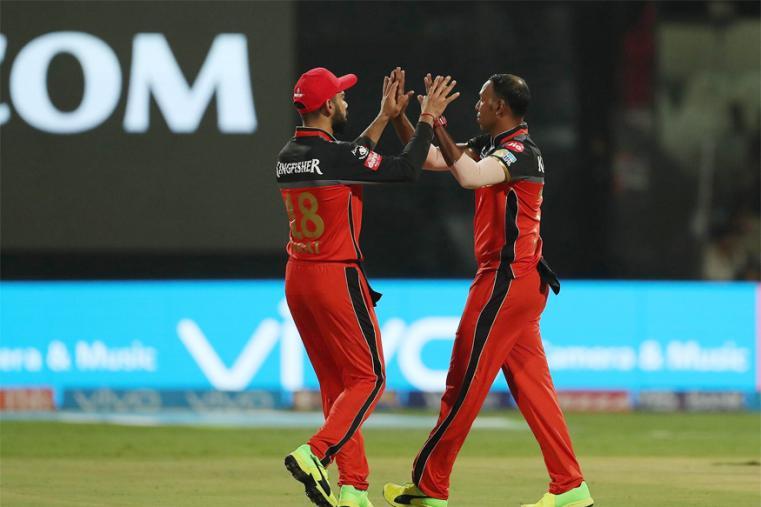 Samuel Badree celebrates after dismissing Ajinkya Rahane for 30 runs. (BCCI Photo)