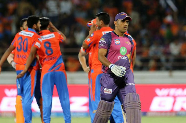 MS Dhoni returns to the pavillion after getting dismissed by Suresh Raina. (BCCI Photo)