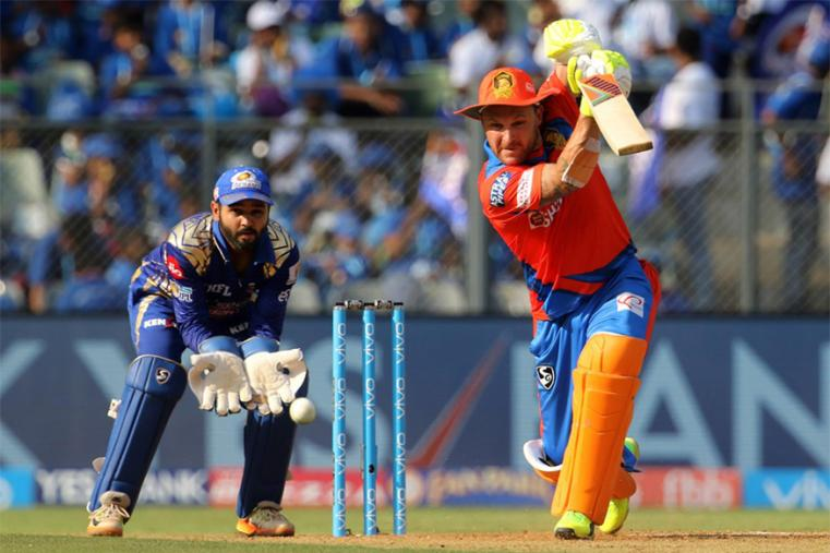 Brendon McCullum raced his way to a quickfire 64 while Dinesh Karthik's cameo provided the late flourish as Gujarat Lions scored a competitive 176 for 4 batting first. (BCCI Photo)