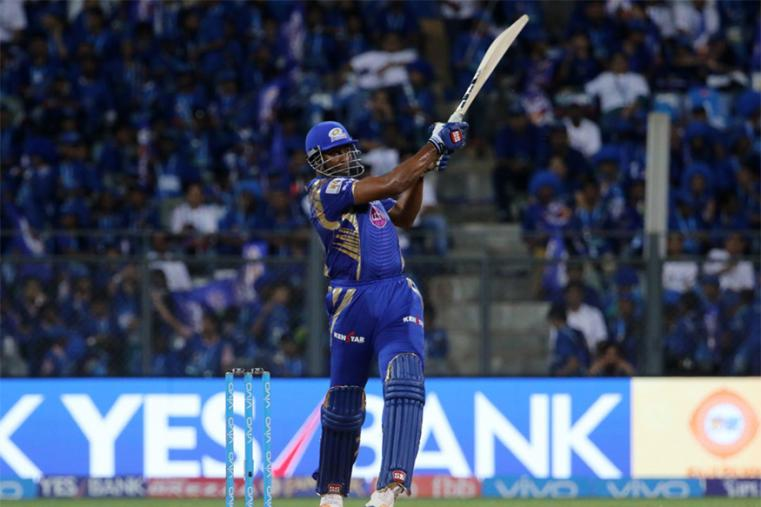 Middle-order batsmen Rohit Sharma and Kieron Pollard then thrashed Gujarat's bowlers all around the park and added 68 runs to give a crucial advantage to their side. (BCCI Photo)