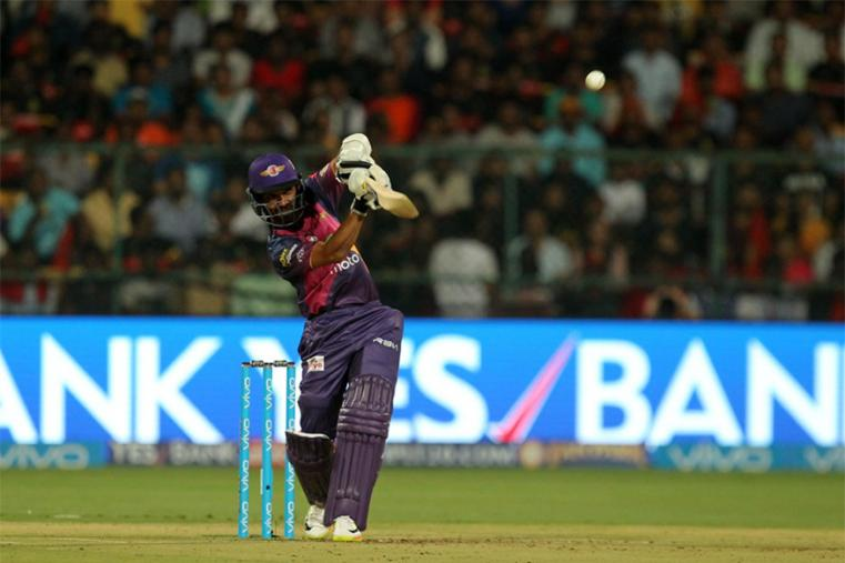 Ajinkya Rahane scored 30 off 25 balls before being dismissed by Samuel Badree. (BCCI Photo)