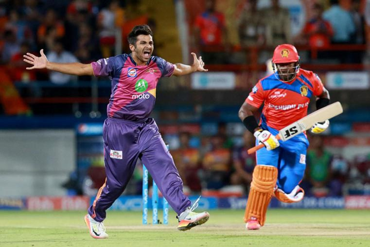 Rahul Chahar celebrates a wicket against Rising Pune Supergiant. (BCCI Photo)