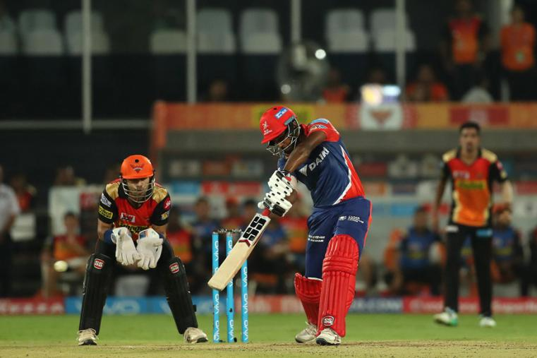 DD opener Sanju Samson plays a shot during his knock of 42. (BCCI Photo)