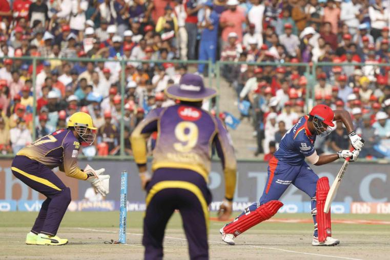 Delhi Daredevils opener Sanju Samson during his quickfire knock of 39 on Monday (BCCI Photo)
