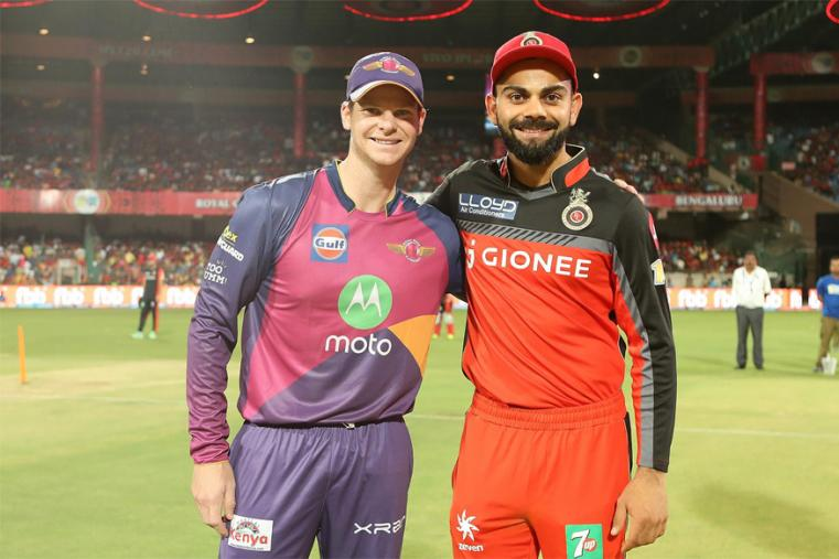 Royal Challengers Bangalore captain Virat Kohli won the toss and opted to bowl against Steve Smith-led Rising Pune Supergiant. (BCCI Photo)