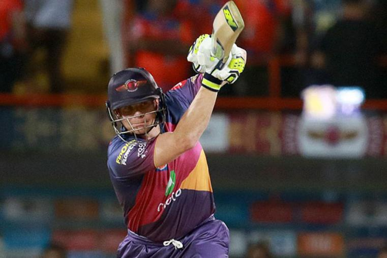 RPS skipper Steven Smith plays a shot during the match against GL (BCCI Photo)