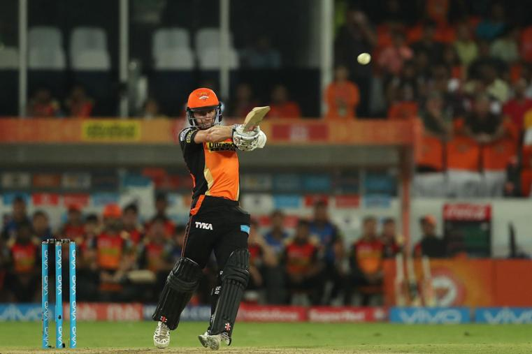 SRH batsman Kane Williamson plays a shit during his match-winning knock of 89 on Wednesday. (BCCI Photo)