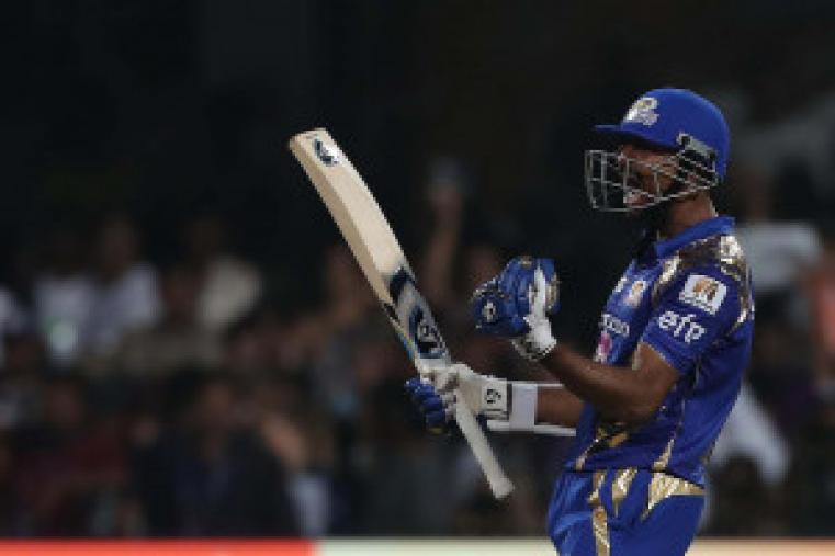 Krunal Pandya celebrates after the win against KKR (BCCI Photo)